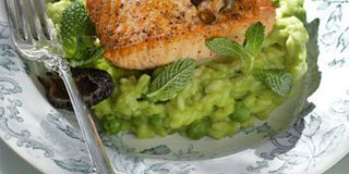 Salmon And Pea Risotto Recipe Tyler Florence Salmon And