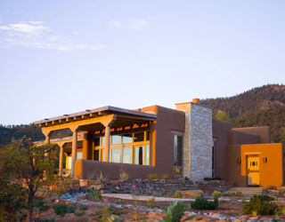 Santa fe home southwestern style modern architecture for Contemporary southwest home designs