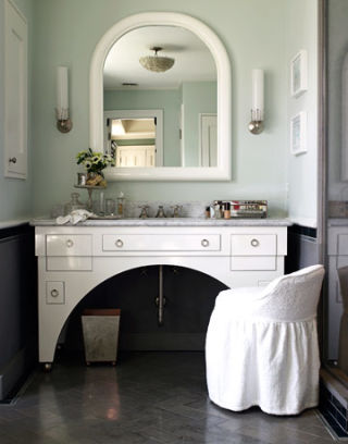Elegant bathroom design ideas for an old hollywood bathroom for Bathroom ideas 1940