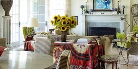 brian j. mccarthy textured living room - cute dog chic space
