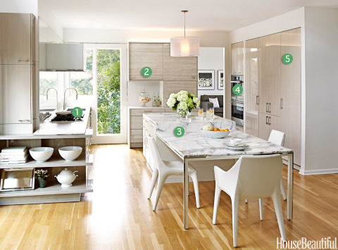 Airy and bright kitchen contemporary kitchen design for Bright kitchen ideas