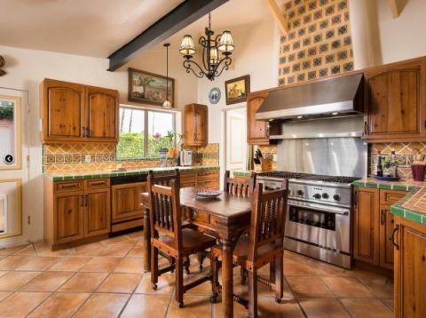 Cocinas rusticas modernas amuebladas
