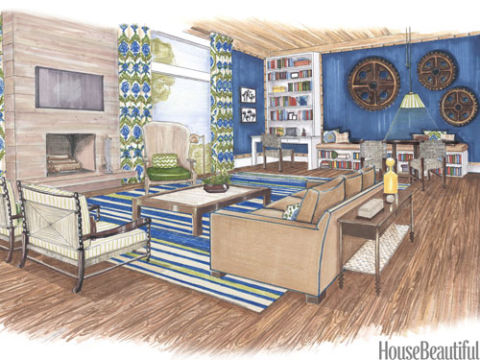 Interior Design Bedroom Sketches room design sketch - interior designer sketches