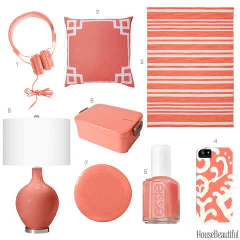 Coral Pink Home Accessories Coral Home Decor