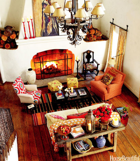Kathryn Ireland Ojai Spanish Style Home Bold and Bright