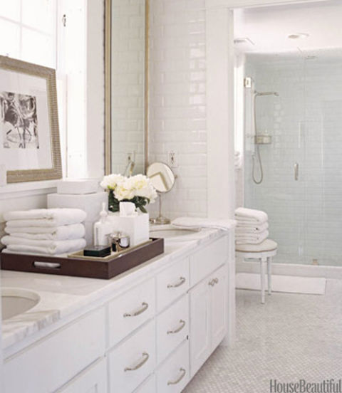 white bathroom - Traditional Bathroom Design Ideas