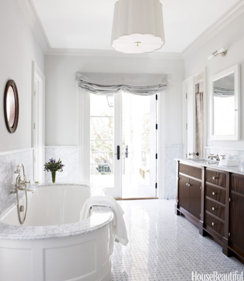 Traditional White Bathroom Designs 20 traditional bathroom designs - timeless bathroom ideas