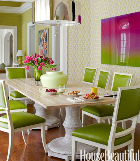 Bright Green Dining Room Green Room Decorating Ideas Green Decor