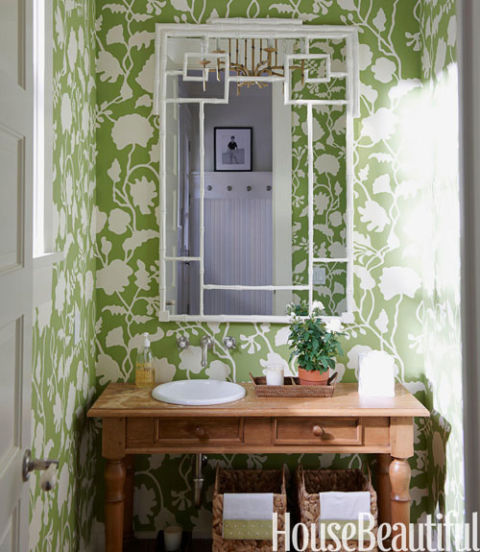 Green Living Room Ideas In East Hampton New York: Ideas For Green Bathrooms