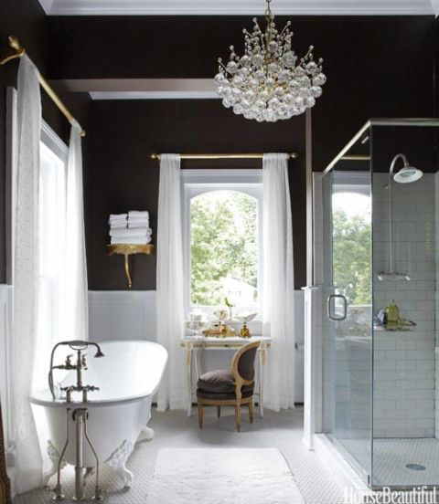 Soothing Bathroom Color Schemes: House Beautiful Pinterest Favorite Pins April 19, 2013