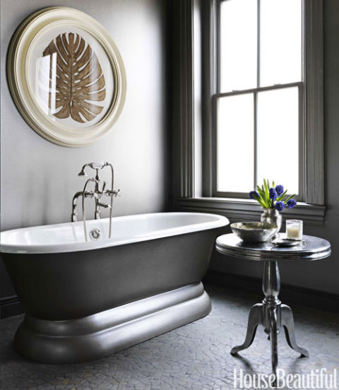 Gray Home Design Ideas: 14 Best Gray Bathroom Ideas
