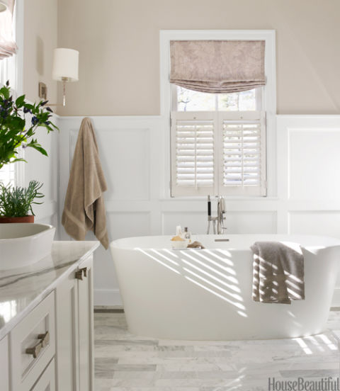 Neutral Color Bathroom Design Ideas ~ Gray bathroom by erin paige pitts neutral decor