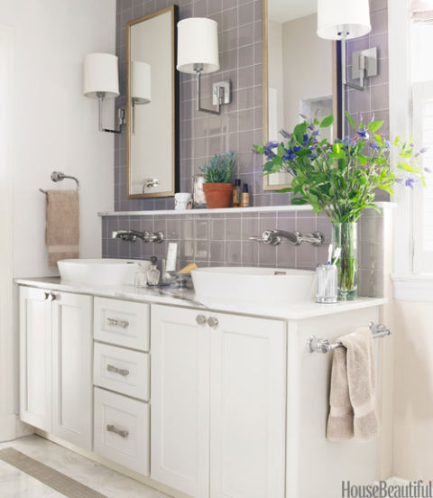 House Beautiful Bathroom gray bathroomerin paige pitts - neutral bathroom decor