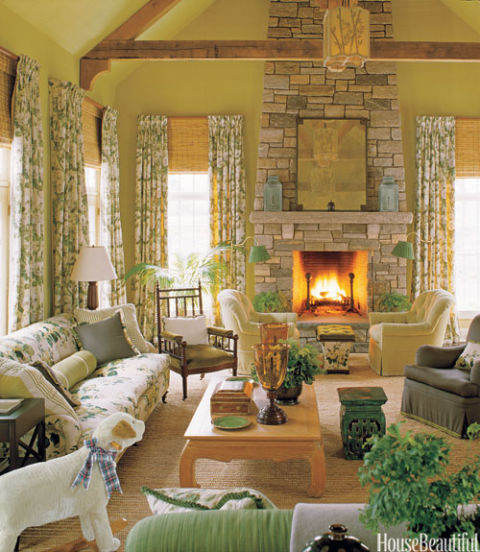 Rustic Living Room By Markham Roberts Inc By: Fireplace Decorating Ideas