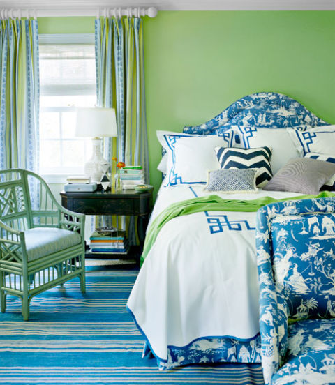 Decorating The Bedroom With Green Blue And Purple: Modern Paint Color Ideas For