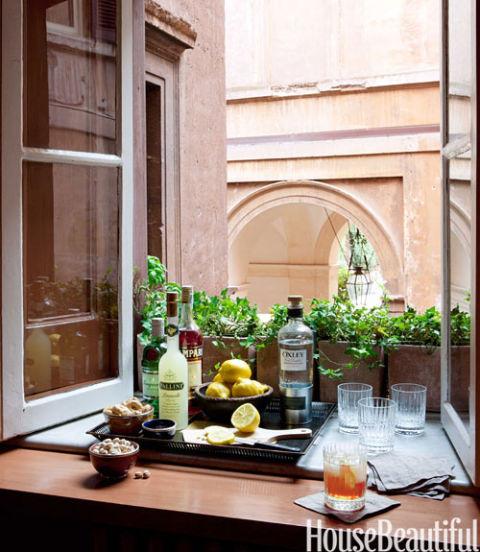 50 Stunning Home Bar Designs: Rome Apartment Interior Design