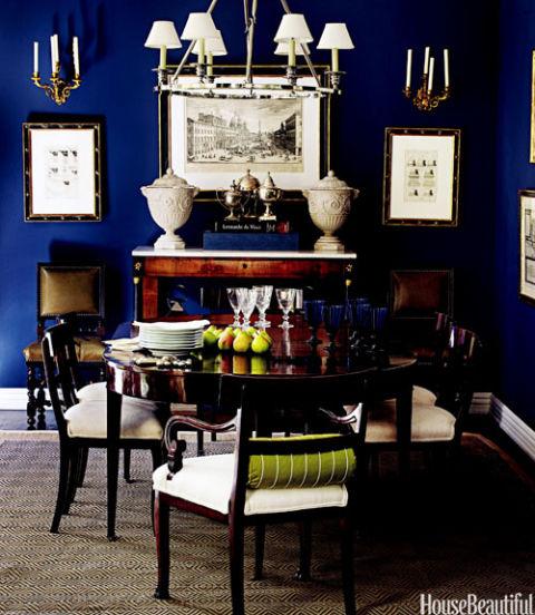Million dollar decorators design ideas million dollar for Navy blue dining room ideas