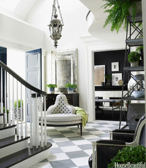 Black and white designer rooms black and white decorating ideas - Trendy entry ...