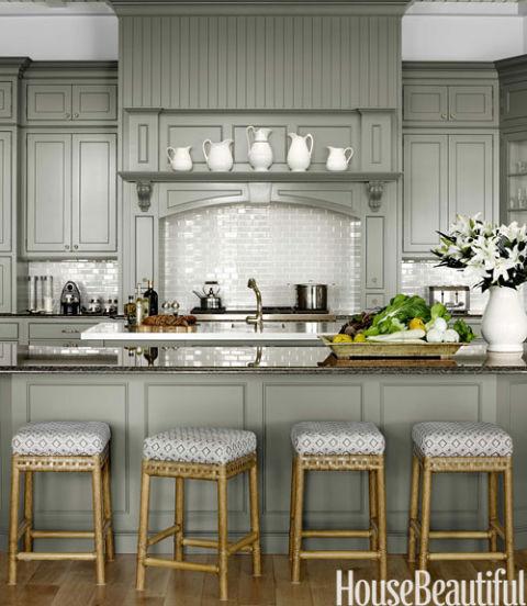The Zhush Seven Inspiring White Kitchens: Shades Of Gray Paint