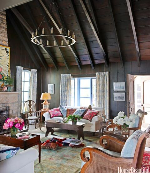 Rustic room decorating ideas cozy rooms for Cottage living room design ideas