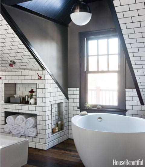 attic room storage ideas - Attic Bathroom Masculine Bathroom Decor