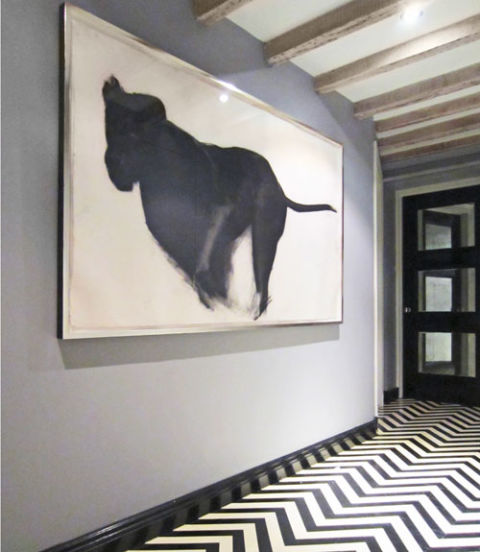 Black and White Chevron   quot I love painted floors. Painted Floor Designs   Painted Floor Ideas