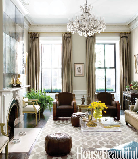 Boston brownstone brownstone decorating ideas for Interior design living room elegant