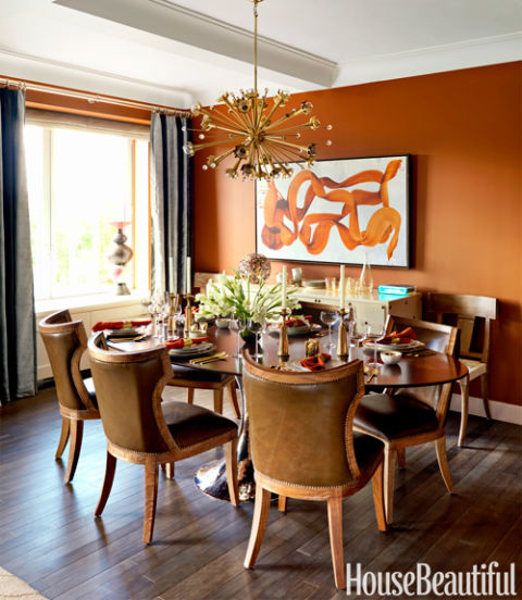 Dining Room Orange: Designer Visions Factory Girl Apartment
