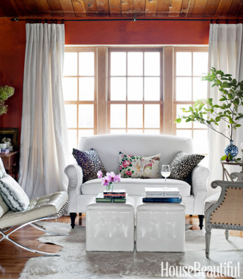Country Cottage Living Room Furniture: Vermont Cottage Decorating Ideas