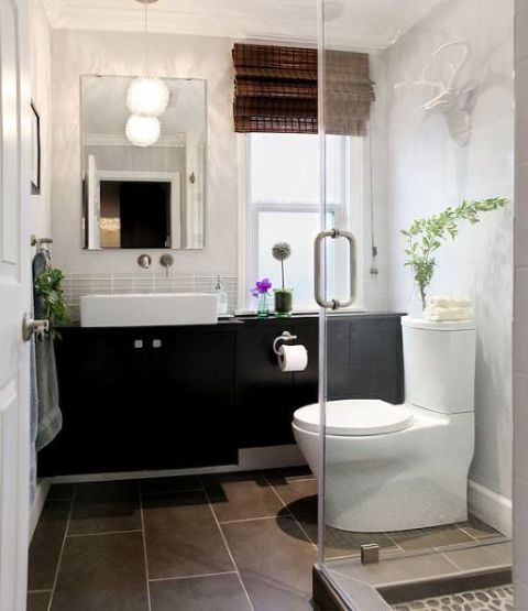 A Powder Room Gets A Stunning Transformation Into A Full