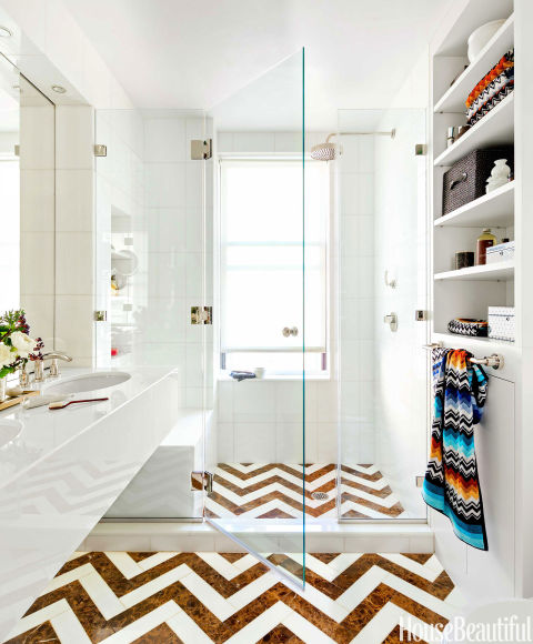 Beautiful Bathrooms Nyc: Chevron Bathroom Tile