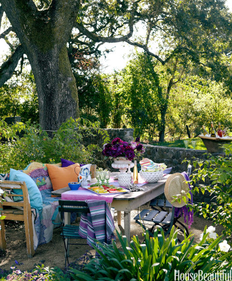 Colorful Outdoor Rooms: House Beautiful Pinterest