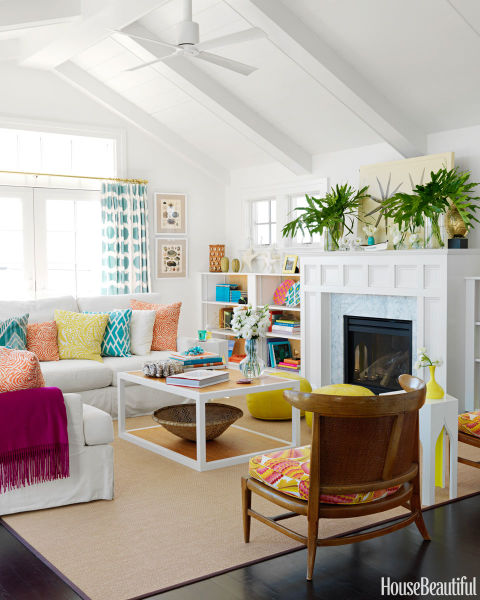 Beautiful Colorful Living Rooms: Colorful And Retro Living Room