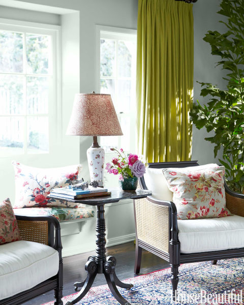 colorful los angeles cottage - granny chic decor