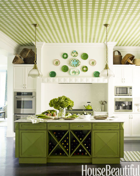 Pea Green Kitchen