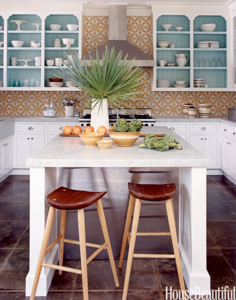 Caribbean style light blue home designed by tom scheerer for Caribbean kitchen design ideas