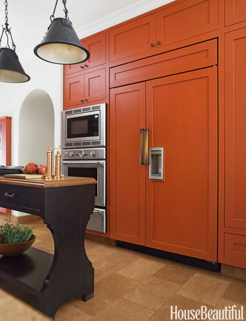 burnt orange kitchen - burnt orange decor