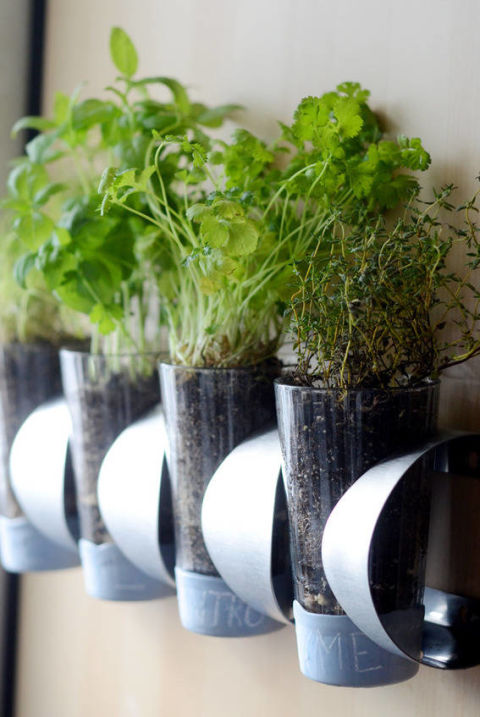 This DIY planter requires nothing more than some pint glasses and an IKEA Vurm wine rack.<br />Get the how-to from Curbed »<br />