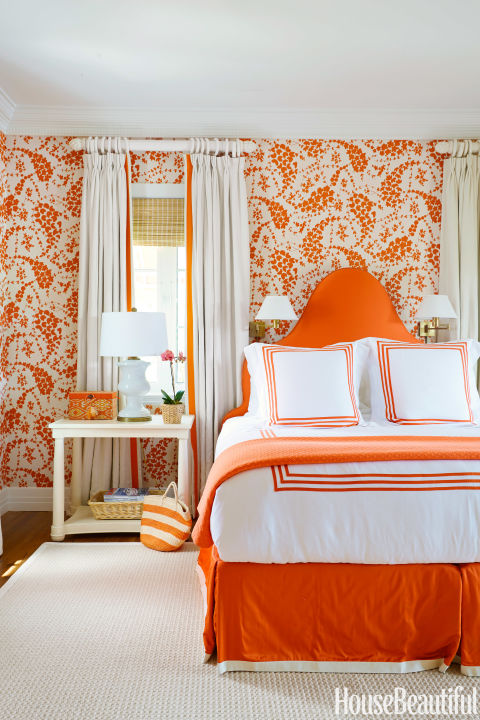 shades of orange add warmth and create a relaxing atmosphere that can aid digestion especially if youve eaten a big dinner the color helps warm and - Colors For Walls In Bedrooms