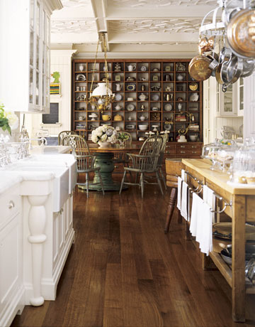 Charming Old Fashioned San Francisco Kitchen By Susan Dossetter With Antique Oak  Cabinet