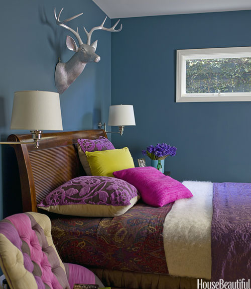 Paint Colors For Bedroom Cool Ideas For Bedrooms For Girls Ceiling Design For Bedroom With Fan Quilted Headboard Bedroom Sets: 30 Color Ideas That'll Punch Up Any Space