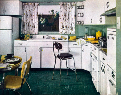 Green 1950s Kitchen