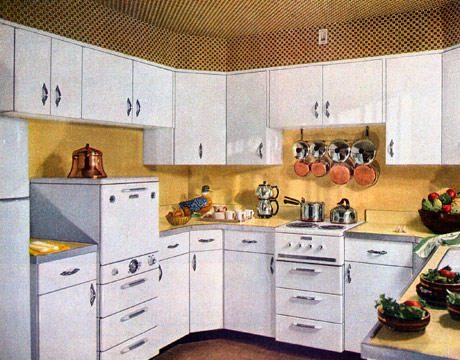 Yellow 1950s Kitchen Part 89