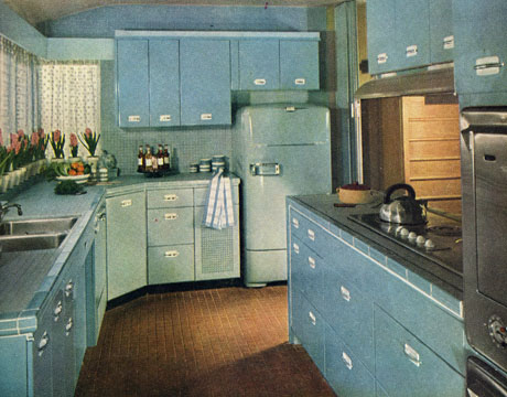 1950 Kitchen Cabinets retro kitchen decor - 1950s kitchens