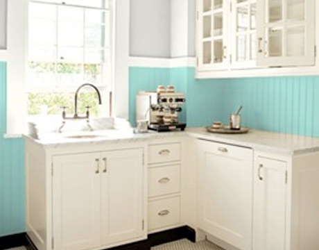 blue kitchen - Color For Kitchen Walls