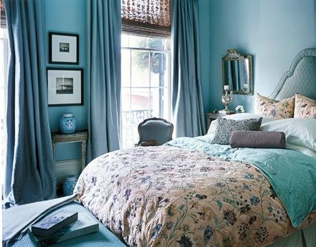 The Cream Purple Lavender Blue And Aqua Embroidered Silk Duvet Adds Softness