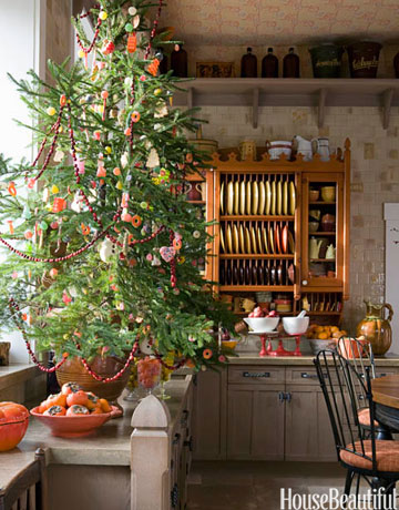 edible tree in the kitchen - Christmas Decorating Ideas For Home