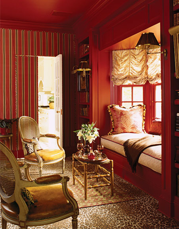 deep red drinks room - Red And White Bedroom Decorating Ideas