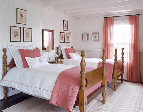 pink and white bedroom - Red And White Bedroom Decorating Ideas