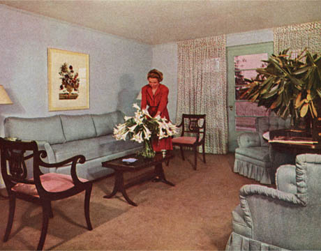 Living Room 1940s dorothy draper's interior designs - legendary 1940's designer
